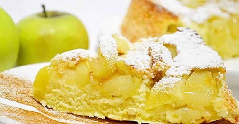 Рецепт яблочной шарлотки в духовке пошаговый