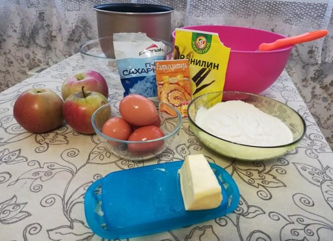 Пышная шарлотка в мультиварке: 10 простых и вкусных рецептов || Яблочный пирог в мультиварке редмонд