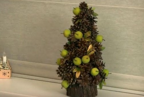 Поделка эко елка