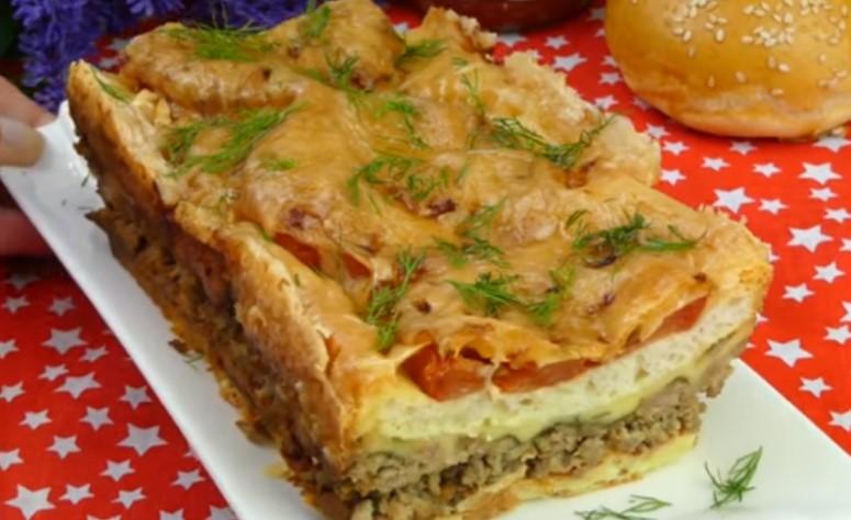 Пирог с фаршем в духовке пошаговый рецепт