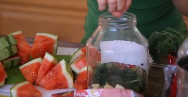Как засолить арбуз