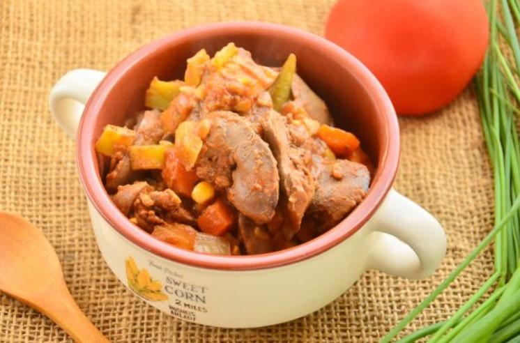 Куриная печень с морковкой и луком - рецепт пошаговый с фото