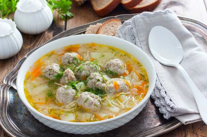 Суп с тефтелями и вермишелью  пошаговый рецепт с фото как приготовить